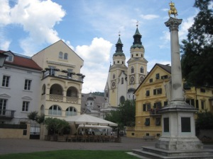 Main square in Brixen, Northern Italy